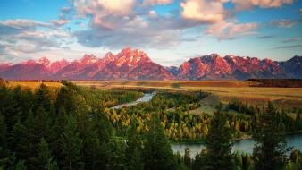 Grand teton national park july usa wyoming dawn wallpaper