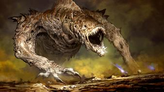 Guild wars 2 mmorpg artwork fantasy art monsters Wallpaper