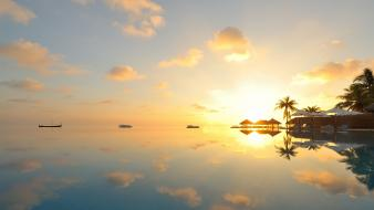 Hawaii kailua clouds landscapes reflections wallpaper