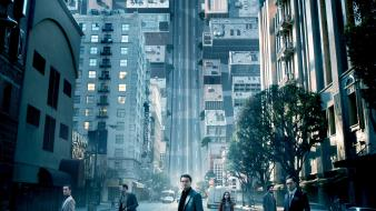 Inception joseph gordonlevitt leonardo dicaprio buildings movies wallpaper