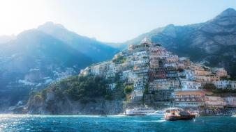 Italia italy cities panorama positano wallpaper