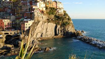 Italia italy manarola cities panorama wallpaper