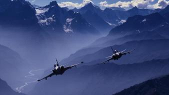 Jas 39 gripen swedish aircraft jet mountains Wallpaper