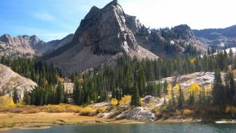 Lake blanche utah forests go green wallpaper
