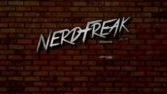Nerdfreak brick wall wallpaper