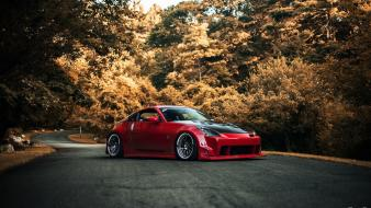 Nissan 350z cars red tuning wallpaper