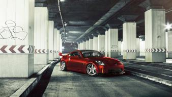 Nissan 350z red tuning wallpaper