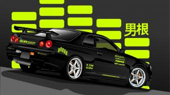 Nissan skyline black cars jdm wallpaper