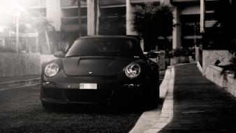 Porsche 911 carrera starcraft black and white cars wallpaper