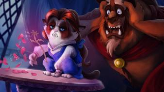 The beast disney company grumpy cat tsaoshin Wallpaper