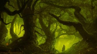 Thief game fantasy art forests male moss Wallpaper
