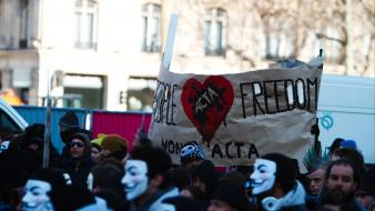Acta anonymous guy fawkes v for vendetta masks wallpaper