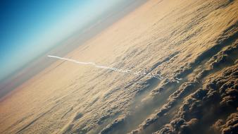 Aircraft altitude clouds skyscapes Wallpaper