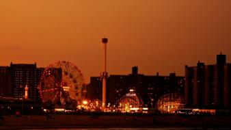 Brooklyn coney island new york city usa beaches wallpaper