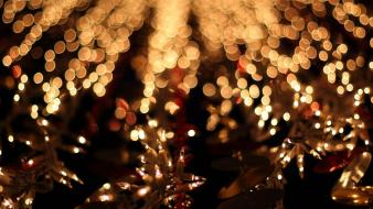 Christmas bokeh lights wallpaper