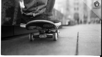 Cityscapes monochrome skateboarding skateboards urban wallpaper