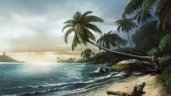 Dead island beaches sea tropical video games Wallpaper