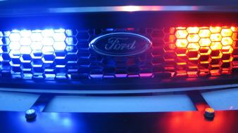 Ford blue light cars police wallpaper