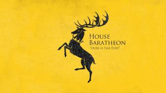 Game of thrones house baratheon tv series yellow wallpaper