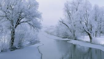 Glacier landscapes nature rivers winter wallpaper