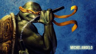 Michaelangelo teenage mutant ninja turtles video games wallpaper