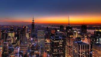 New york city architecture buildings night Wallpaper