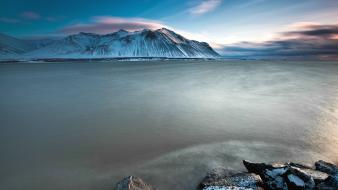 Iceland coast landscapes mountains ocean wallpaper
