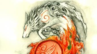 Okami dragons flare sox wallpaper