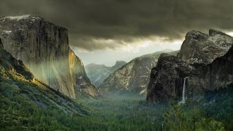 Yosemite national park landscapes nature wallpaper