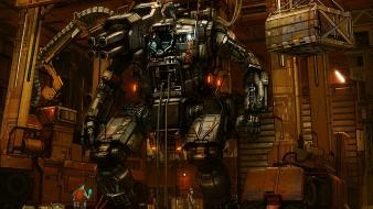 Mechanical creature robots science fiction Wallpaper