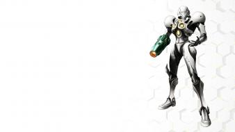 Metroid prime samus aran white background Wallpaper