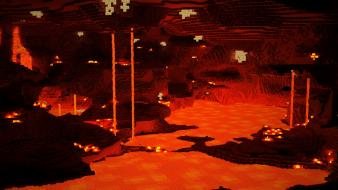 Minecraft nether minecraft lava wallpaper