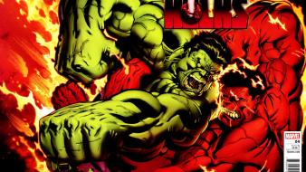 Hulk comic character marvel comics red wallpaper