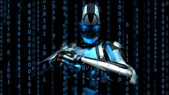 Binary cyborgs machines robots science fiction wallpaper