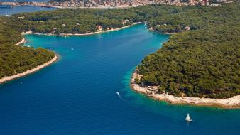 Cikat bay croatia lussinpiccolo islands sea Wallpaper