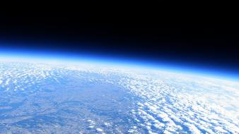 Earth atmosphere blue bright clouds wallpaper