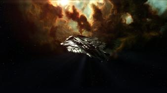 Eve online nyx artwork futuristic outer space wallpaper