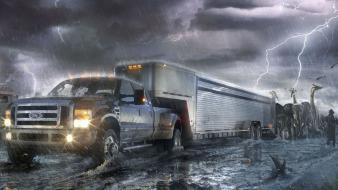 Ford super duty ark fantasy art wallpaper