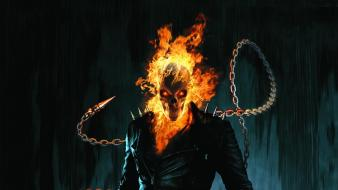 Ghost rider chains comics fire movies wallpaper