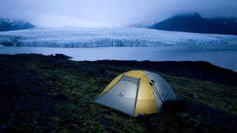 Iceland national park camping wallpaper