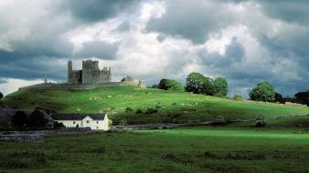 Ireland rock of cashel landscapes ruins wallpaper