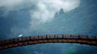 Japan kintai bridge yamaguchi prefecture landscapes wallpaper