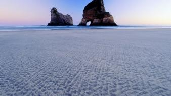 New zealand beaches islands wallpaper