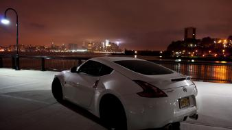 Nissan 370z cars cityscapes night Wallpaper