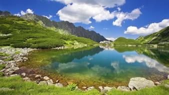 Poland five mountains ponds valleys wallpaper
