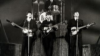 The beatles monochrome wallpaper