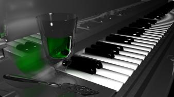 Absinthe alcohol gray background liquor piano wallpaper