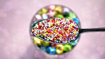 Abstract desserts sprinkles wallpaper