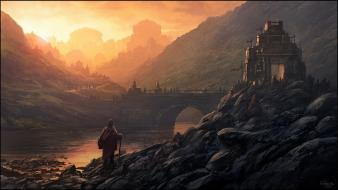 Andreas rocha artwork fantasy art landscapes wallpaper