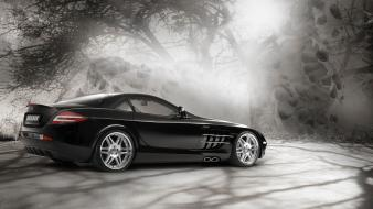 Brabus mercedesbenz slr mclaren black cars supercars wallpaper